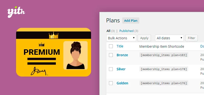 YITH woocommerce membership plugin